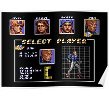 Streets of Rage 3 – Select Zan Poster