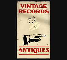 Vintage Antiques Record Sign Long Sleeve T-Shirt