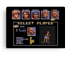 Streets of Rage 3 – Select Roo Canvas Print