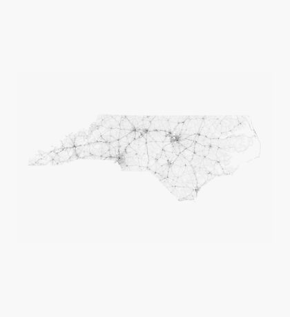 Roads of North Carolina. (Black on white) Photographic Print