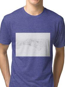 Roads of North Carolina. (Black on white) Tri-blend T-Shirt