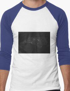 Roads of North Carolina. (White on black) Men's Baseball ¾ T-Shirt