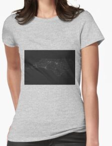 Roads of North Carolina. (White on black) Womens Fitted T-Shirt