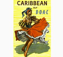 Caribbean Vintage Travel Poster ~ Fly BOAC Airline ~ 0574 Unisex T-Shirt
