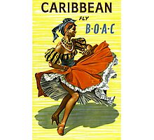 Caribbean Vintage Travel Poster ~ Fly BOAC Airline ~ 0574 Photographic Print