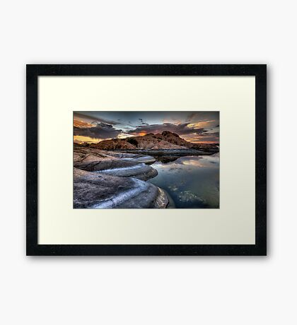 1 2 3 Sunset Framed Print