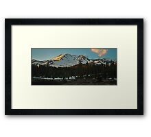 Bunny Flatts Shasta Sunset Framed Print