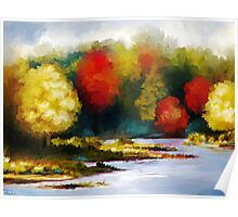 Autumn Landscape - Abstract Art Poster