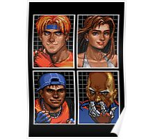 Streets of Rage 3 – Character Bio Pictures Poster