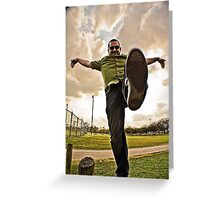 Crane Kick Hoopla  Greeting Card
