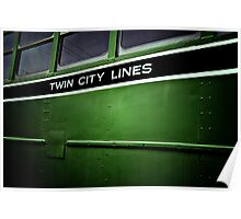 Twin City Lines (Green) Poster