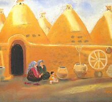 chatting in Harran, Turkey by Elena Malec