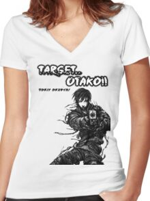 Target Otaku! Women's Fitted V-Neck T-Shirt