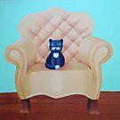 Cat on chair by Koekelijn
