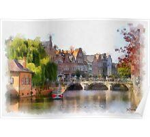 Lier - Bridge over the river Nethe - Belgium Poster