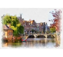 Lier - Bridge over the river Nethe - Belgium Photographic Print