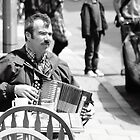 accordion player - North Road, Brighton by Andy James