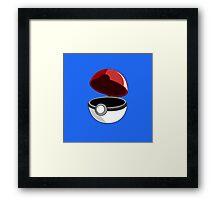 Just a Pokeball Framed Print