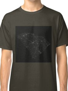 Roads of South Carolina. (White on black) Classic T-Shirt