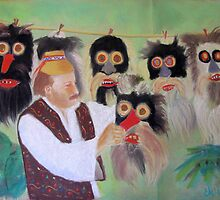 masks maker from Maramures, Romania by Elena Malec