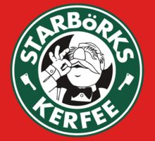 'Starbörks Kerfee' - Smaller Logo (Starbucks / The Swedish Chef) Kids Clothes