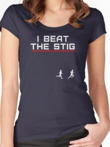 I Beat The Stig (in a foot race) Women's Fitted Scoop T-Shirt