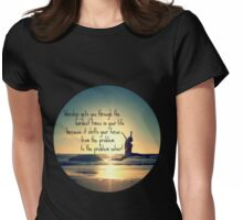 Worship Gets You Through Womens Fitted T-Shirt