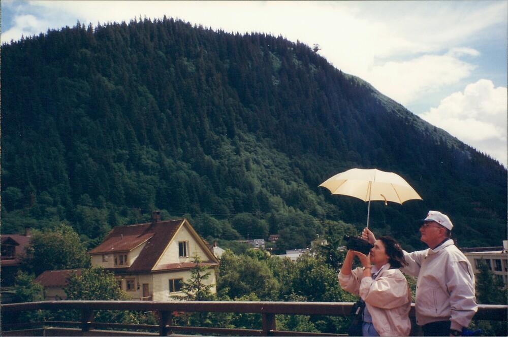 A Video Camera, An Umbrella, and A Sunny Day in Juneau, Alaska by lenspiro