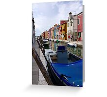 Burano, Venice, Italy Greeting Card