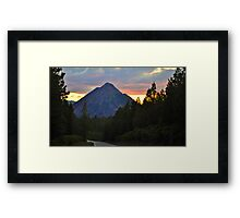 Black Butte Sunset, Shasta Trinity National Forest Framed Print