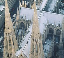 Aerial View of St. Patricks Cathedral, New York, Top of the Rock by lenspiro