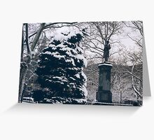 Hoboken, New Jersey, View in Wet Snow Greeting Card