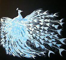 Albino Peacock 1 by chris benice