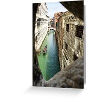 View from the Bridge of Sighs Greeting Card