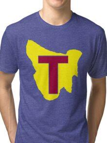 Map of Tassie Tri-blend T-Shirt