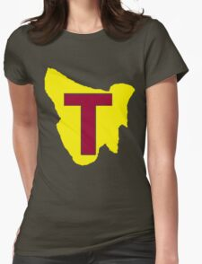 Map of Tassie Womens Fitted T-Shirt