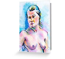 Life drawing sketch  15. 03. 2011 Greeting Card