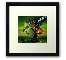 Lamp Woman Framed Print