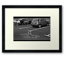Cartoonist wanted for hit and run.... Framed Print