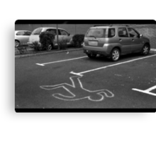 Cartoonist wanted for hit and run.... Canvas Print