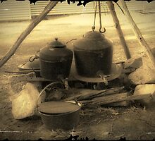 Old Cooking Pots by Eve Parry
