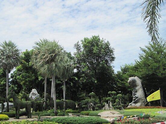 Topiary At Wat Toh Phommarangsi by Hugh Fathers