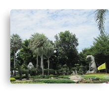 Topiary At Wat Toh Phommarangsi Canvas Print