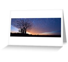 As Night Blankets the Sky Greeting Card