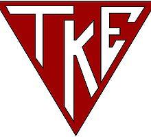 Tau Kappa Epsilon: Triangle Symbol by Spacestuffplus