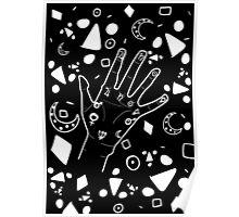 Palmistry- Black &White Poster