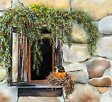 Robin in the Window by Renee Dawson