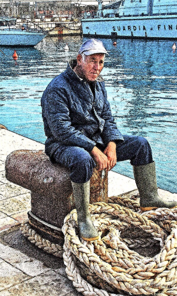 Sittin' by the Dock of the Bay - Gallipoli Italy by Debbie Pinard