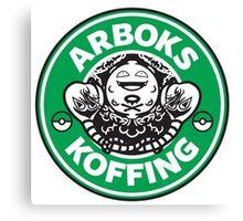 Arboks koffing pokemon starbucks parody Canvas Print