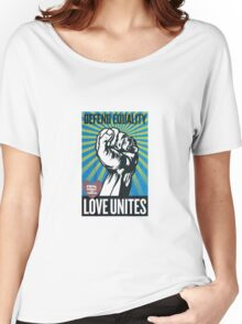 Defend equality, love unites Women's Relaxed Fit T-Shirt